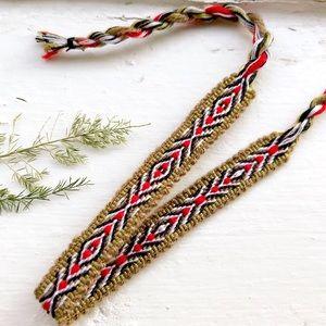 Jewelry - $4 BUNDLED❥ Folk Art Boho Woven Bracelet